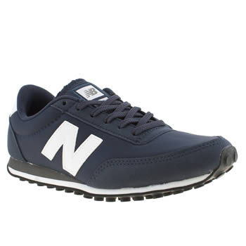 womens new balance navy & white 410 trainers