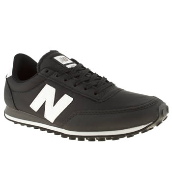 womens new balance black & white 410 trainers