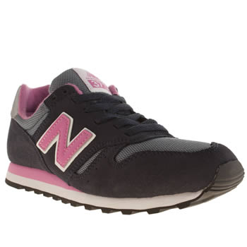 Womens New Balance Navy & White 373 Trainers