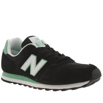New Balance Black & Green 373 Trainers