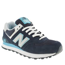 Navy & Pl Blue New Balance 574