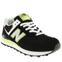 Black & Green New Balance 574