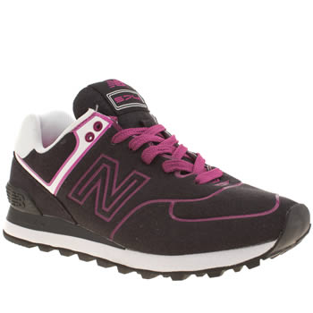 New Balance Black & pink 574 Neon Trainers