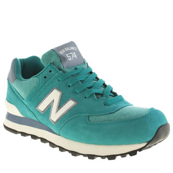 New Balance Turquoise 574 Pennant Trainers
