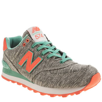 Womens New Balance Grey 574 Trainers
