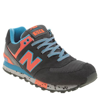 Womens New Balance Dark Grey 574 90s Outdoor Trainers