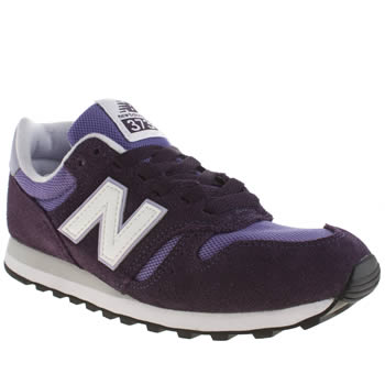 Womens New Balance Purple 373 Suede & Mesh Trainers