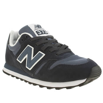 Womens New Balance Navy & White 373 Suede & Mesh Trainers