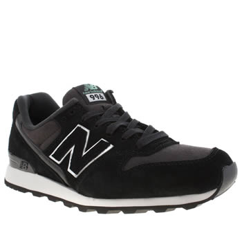 Womens New Balance Black & White 996 Trainers