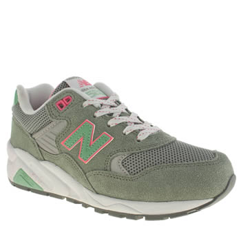 Womens New Balance Khaki 580 Trainers