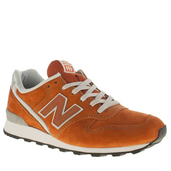 New Balance Orange 996 Suede Trainers