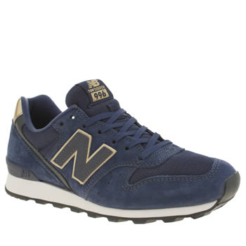 New Balance Navy & Gold 996 Trainers