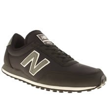 New Balance Black & White 410 Mesh Trainers