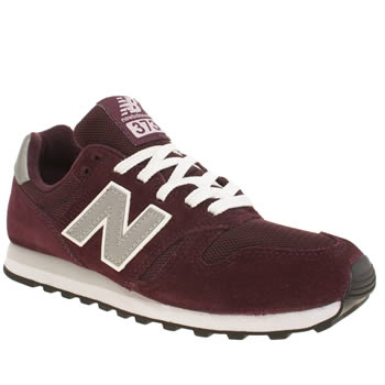 Womens New Balance Burgundy 373 Suede & Mesh Trainers