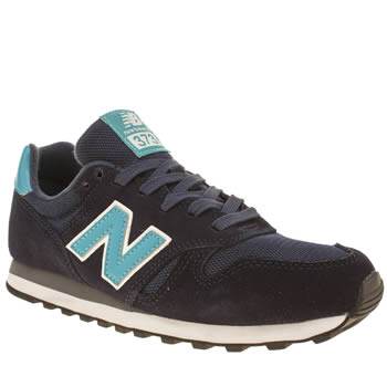 Womens New Balance Navy & Pl Blue 373 Suede & Mesh Trainers