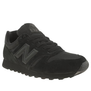 New Balance Black 373 Suede & Mesh Trainers