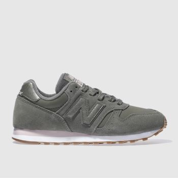 New Balance Khaki 373 Suede Womens Trainers
