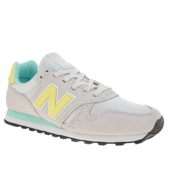 New Balance Grey 373 Suede & Mesh Trainers