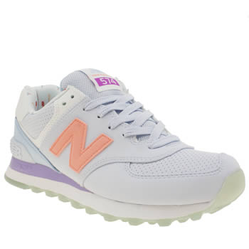 New Balance Lilac 574 Synthetic Trainers