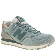 New Balance Blue 574 Denim Womens Trainers