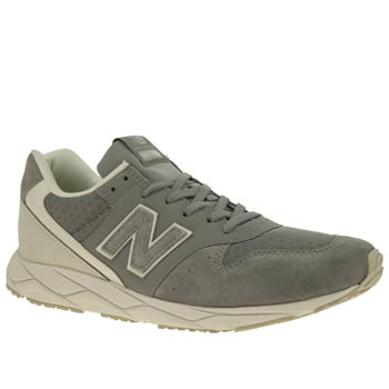 New Balance Grey 96 Suede Womens Trainers