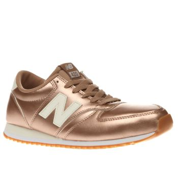 NEW BALANCE ROSE GOLD 420 TRAINERS