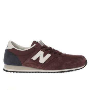 New Balance Burgundy 420 Suede Womens Trainers