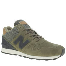 New Balance Khaki 996 Hi Suede Womens Trainers