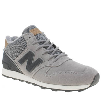 New Balance Grey & Navy 996 Hi Womens Trainers