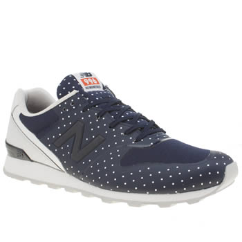 New Balance Navy & White 996 Polka Dots Womens Trainers