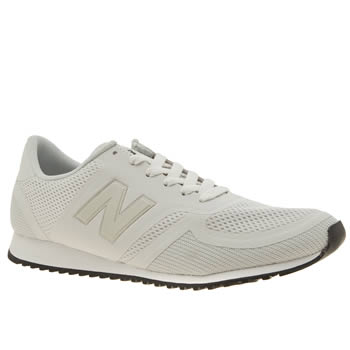 New Balance White 420 Microfiber Womens Trainers