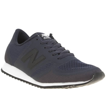 New Balance Navy & White 420 Microfiber Womens Trainers