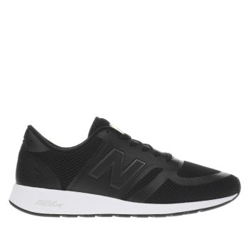 New Balance Black & White 420 V1 Synthetic Trainers