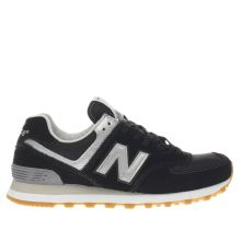 New Balance Black & Grey 574 V1 Womens Trainers