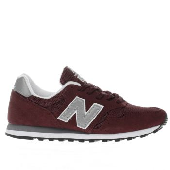 New Balance Burgundy 373 Womens Trainers