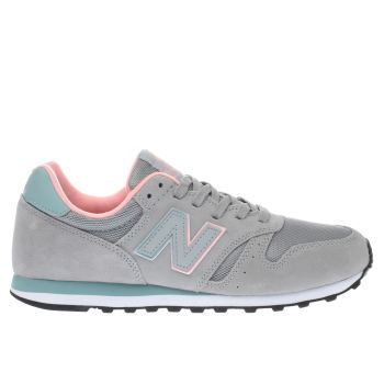 New Balance Light Grey 373 V1 Suede Trainers