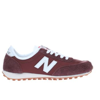 Womens New Balance Burgundy 410 V1 Suede Trainers