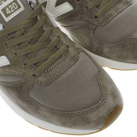new balance khaki 420 trainers