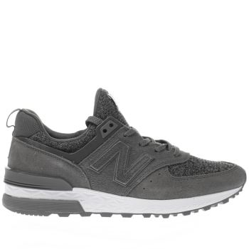 womens new balance grey 574 sport trainers
