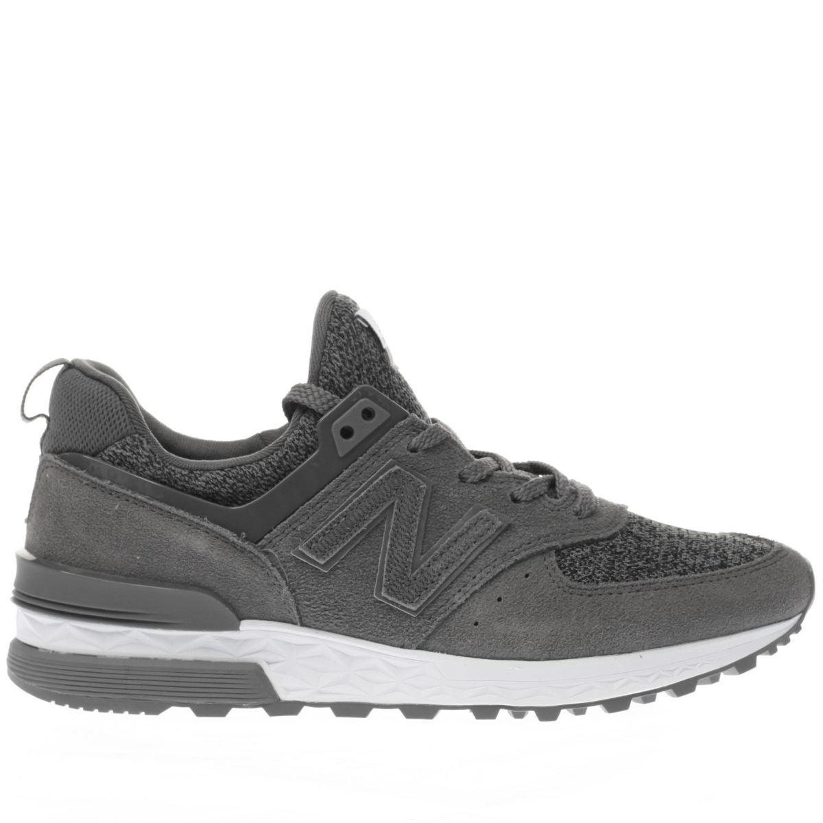 new balance grey 574 sport trainers