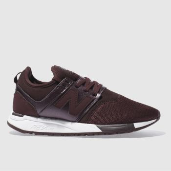 New Balance Burgundy 247 Classic Womens Trainers