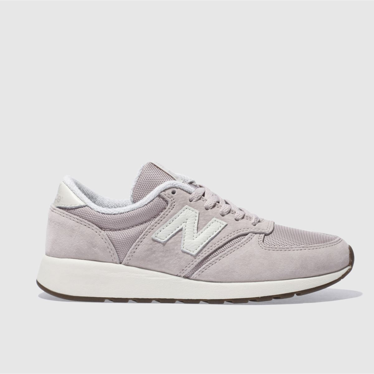 new balance pale pink 420 rev lite suede trainers
