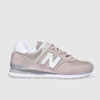 New Balance Pink 574 Suede Womens Trainers