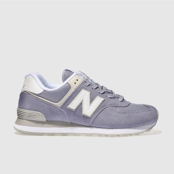 New Balance Lilac 574 Suede Womens Trainers