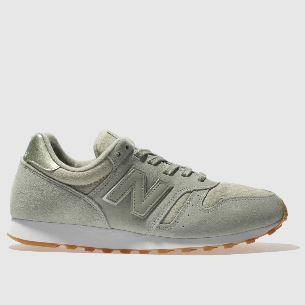 New Balance Light Green 373 Suede Trainers