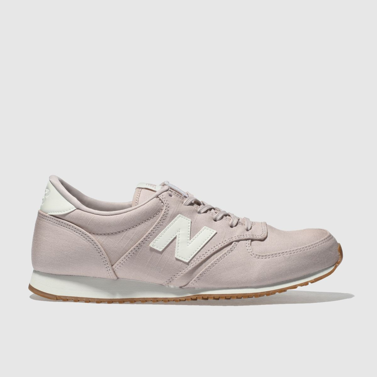 New Balance Pale Pink 420 V1 Canvas Trainers