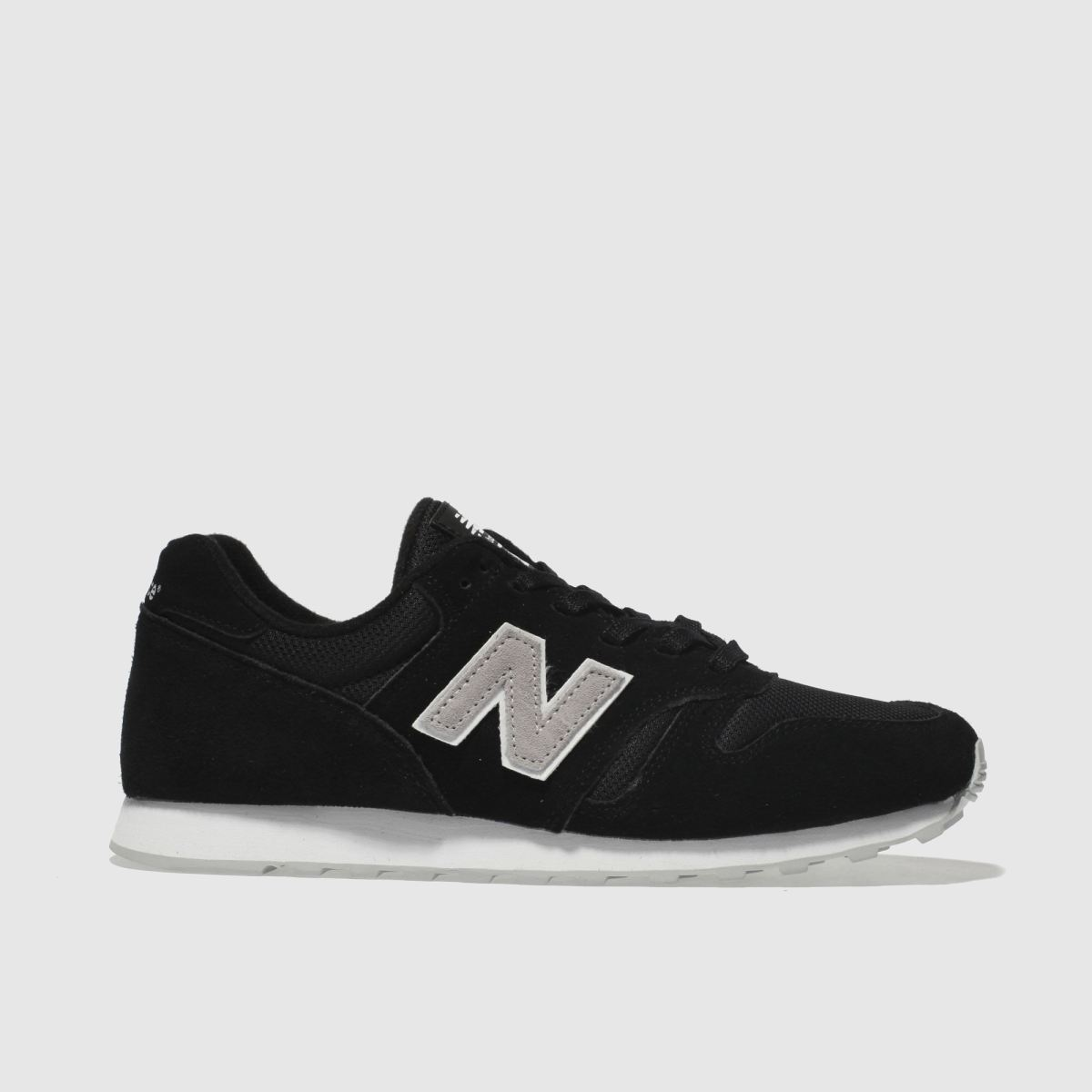New Balance Black & Grey 373 V1 Suede Trainers