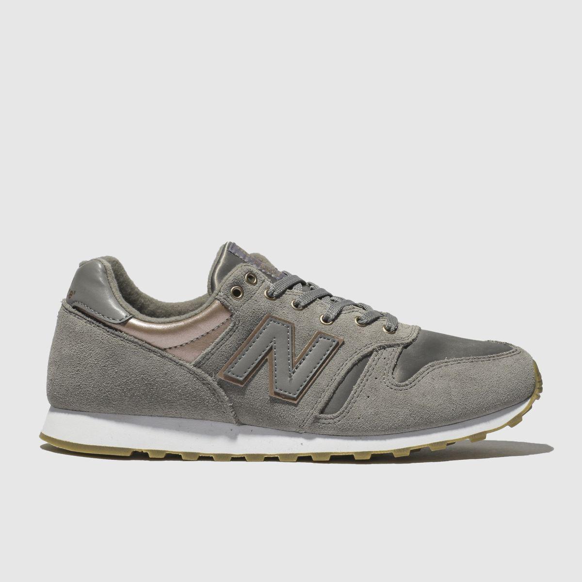 New Balance New Balance Grey 373 Metallic Trainers