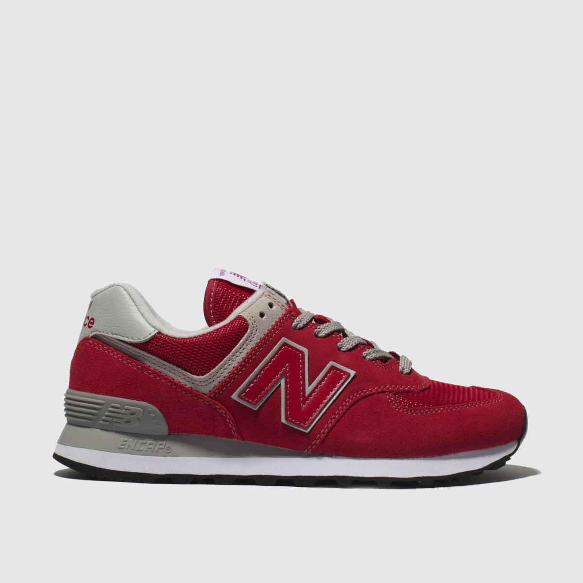 New Balance Red 574 V2 Suede Trainers