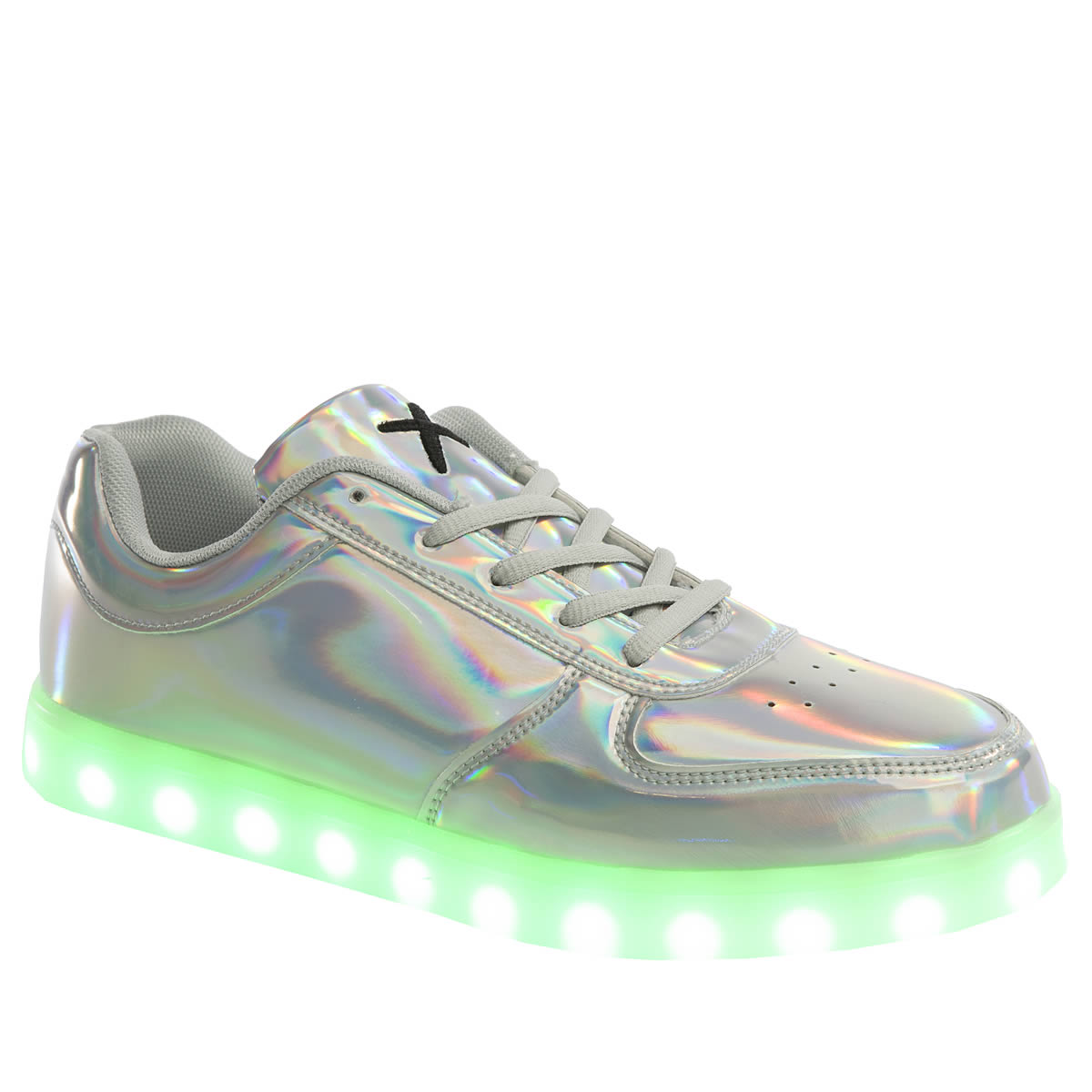 wize & ope Wize & Ope Silver Pop Led Womens Trainers